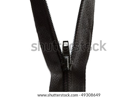 photo of zipper opened on a half