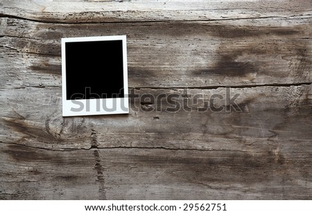 photo on old wooden background