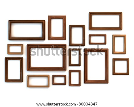 photo or painting frames set - stock photo
