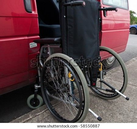 photo outdoor wheelchair access to transport patient - stock photo