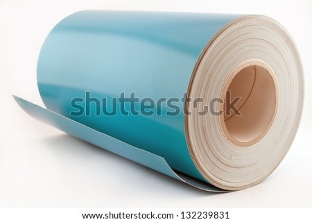 photo paper roll on white fotni, lit - stock photo