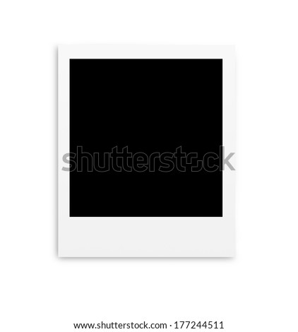 Photo papers card isolated on white background - stock photo