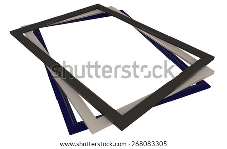 Photo / picture frames isolated on white - stock photo