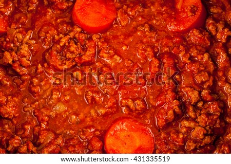 Photo picture of the classic Italian style tomato sauce