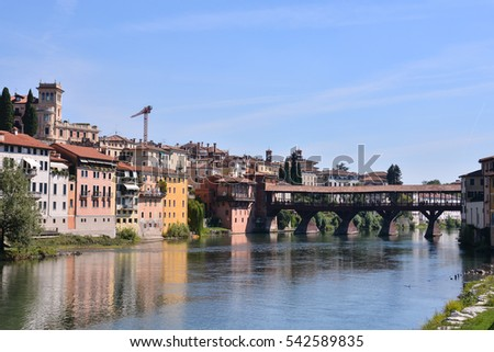 Photo Picture of the Medieval City Bassano del Grappa