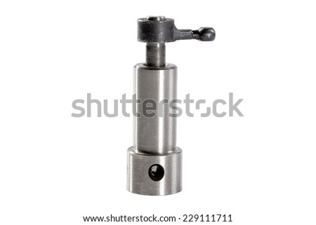photo plunger of the fuel pump of the diesel engine - stock photo