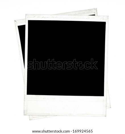 photo polaroid frames on white - stock photo