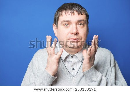 photo portrait middle age man close up - stock photo