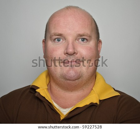 photo portrait smiling middle age man close up - stock photo