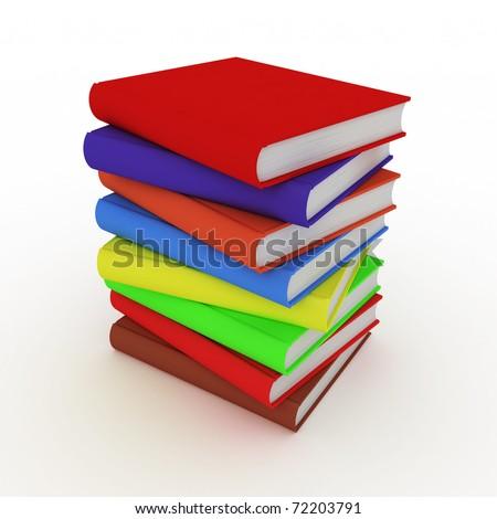 Photo Realistic Books - stock photo