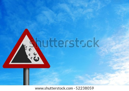 Photo realistic reflective metallic 'falling Euro' sign, with space for your text. - stock photo
