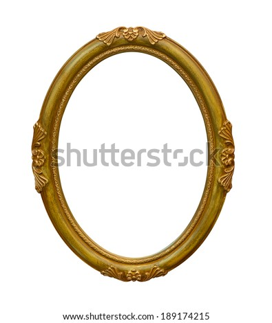 photo round frame isolate on white background - stock photo