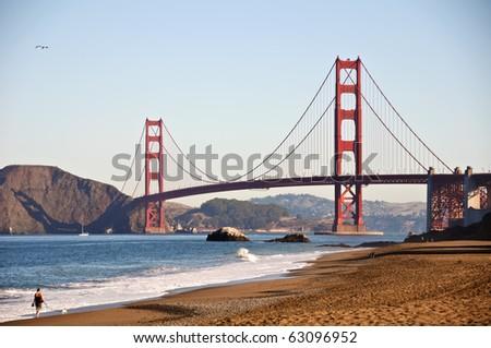 photo san francisco golden gate by baker beach - stock photo