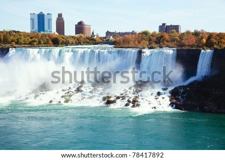 Photo shoot at Candan Niagara Falls, in summer. - stock photo