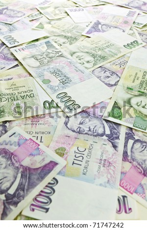 photo shot of czech money background - stock photo