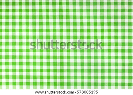 Photo Shot Of Green Checkered Tablecloth