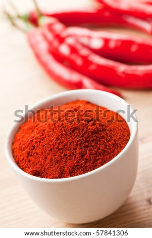 photo shot of spicy chili - stock photo
