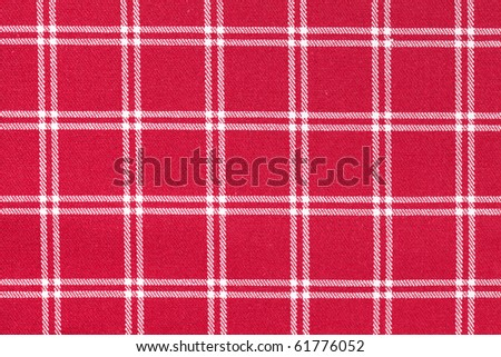 photo shot of white and red checkered pattern - stock photo