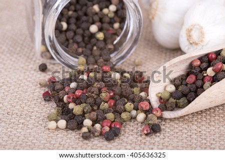 photo showing the timing of pepper on a white background - stock photo