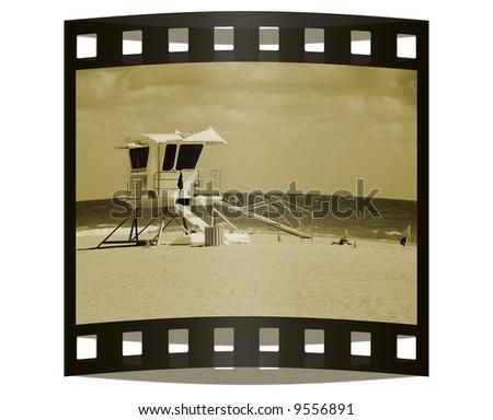 Photo slide from beach vacation - stock photo