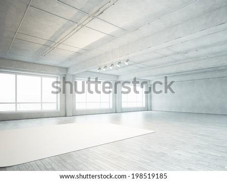 Photo studio interior - stock photo