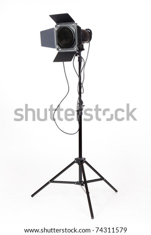 Photo-studio with lighting equipment