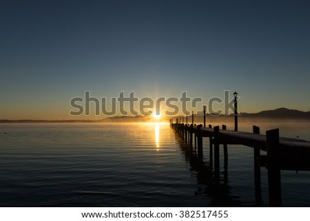 Photo taken at the Chiemsee in Bavaria, Germany, in January.