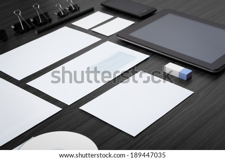 Photo. Template business for branding identity. - stock photo