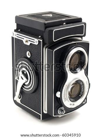 Photo the old photo camera - stock photo