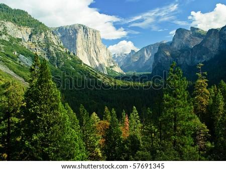 photo yosemite national park, scenic landscape - stock photo