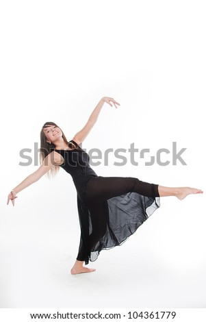 Photo young and beautiful ballerina