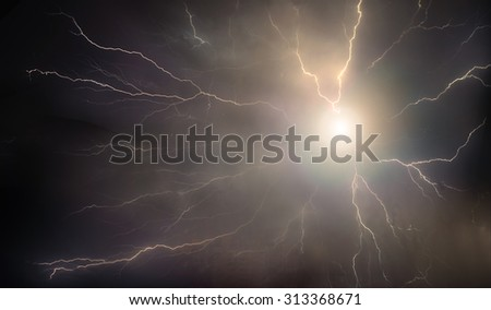 PHOTOART fantastic adventure in a storm
