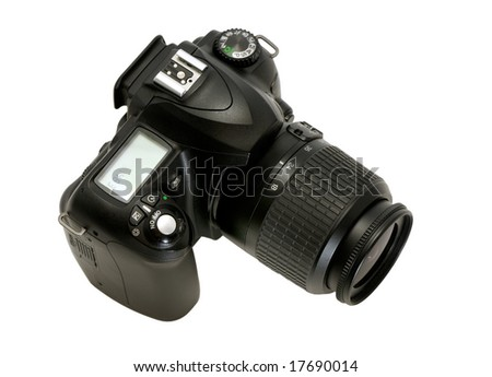 photocamera isolated on a white background