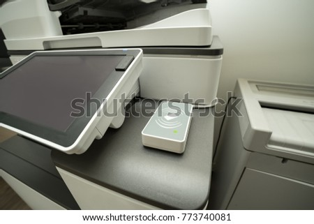 Photocopier with access control for scanning key card