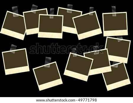 Photoframes - objects isolated over black