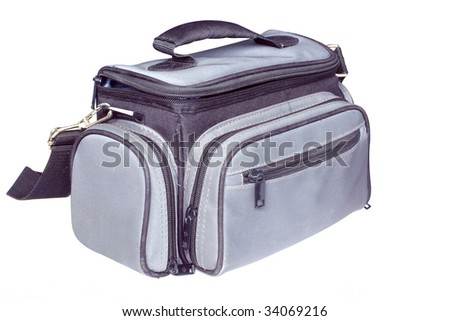 Photograph bag under the white background