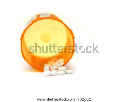 Photograph of a bottle of prescription medication - stock photo