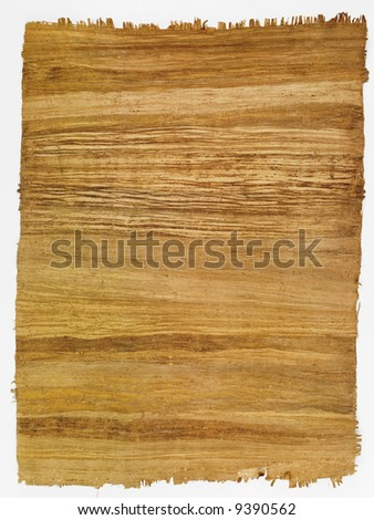 Photograph of a brown, textured sheet of paper.