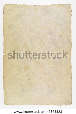 Photograph of a sheet of brown paper.