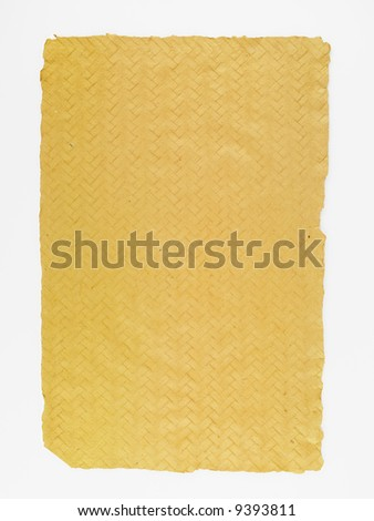 Photograph of a sheet of brown parchment paper.