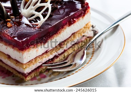 Photograph of a tasty  torte with jelly - stock photo
