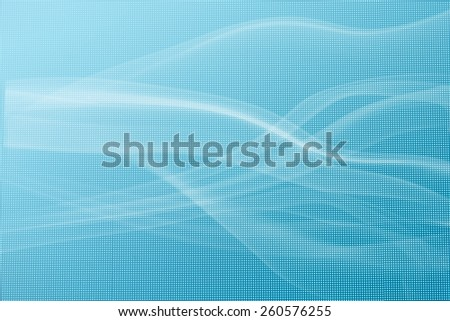 Photograph of abstract blue led screen texture with smoke  background - stock photo