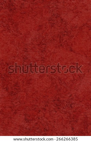 Photograph of Artist China Red Primed Cotton Duck Canvas coarse, bleached, mottled, grunge texture. - stock photo