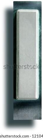 Photograph of Metal Letterpress Letter I - stock photo