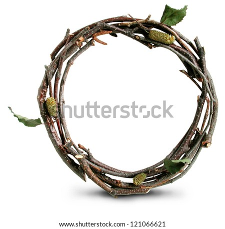 Photograph of Natural Twig and Stick Open Quote - stock photo