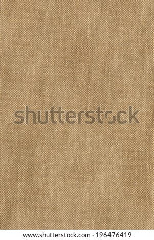Photograph of primed, coarse grain, artist's Cotton duck canvas reverse side, crumpled texture sample.