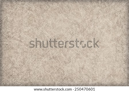 Photograph of Recycle Grayish Beige Striped Pastel Paper, coarse grain, bleached, mottled, vignette grunge texture sample. - stock photo
