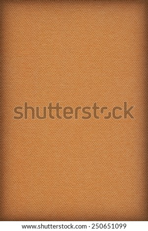Photograph of Recycle Orange Pastel Paper, coarse grain, vignette grunge texture sample. - stock photo