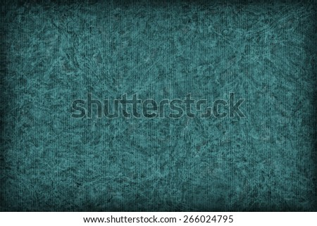 Photograph of Recycle Striped Emerald Green Pastel Paper, bleached, mottled, coarse grain, vignette grunge texture sample. - stock photo
