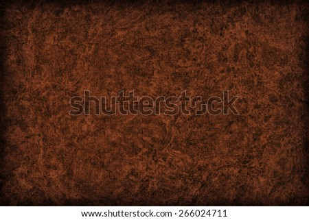 Photograph of Recycle Striped English Red Pastel Paper, bleached, mottled, coarse grain, vignette grunge texture sample. - stock photo